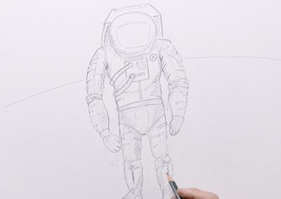 Les P'tits croquis : Episode 7 – L'Astronaute